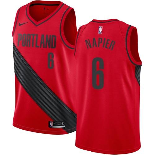 Portland Trail Blazers #6 Shabazz Napier Red Nike NBA Men's Stitched Swingman Jersey