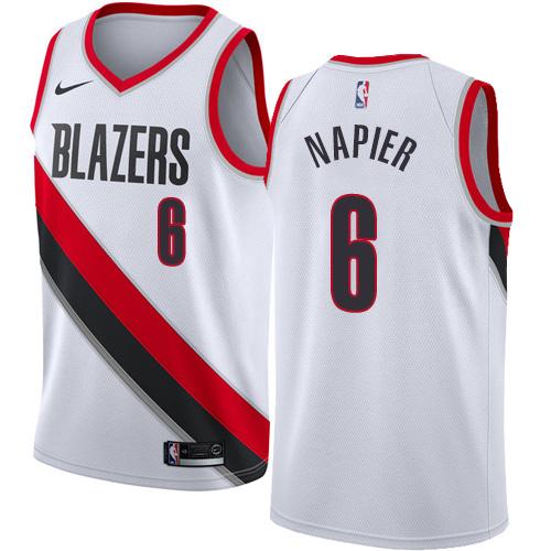 Portland Trail Blazers #6 Shabazz Napier White Nike NBA Men's Stitched Swingman Jersey