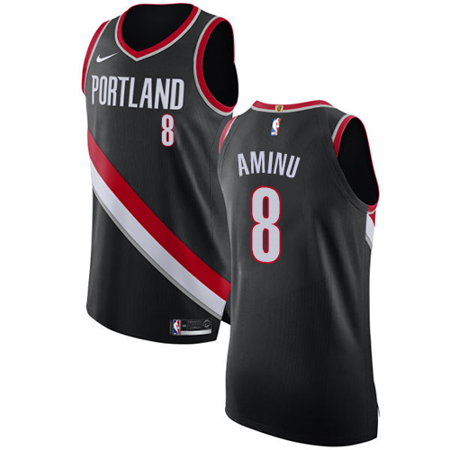 Portland Trail Blazers #8 Al-Farouq Aminu Black Nike NBA Men's Stitched Swingman Jersey