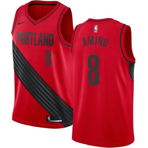 Portland Trail Blazers #8 Al-Farouq Aminu Red Nike NBA Men's Stitched Swingman Jersey