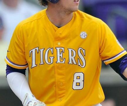 Men's Lsu Tigers #8 Alex Bregman Gold College Baseball Stitched Nike NCAA Jersey