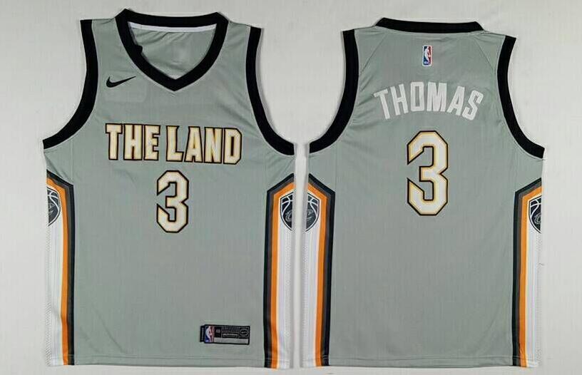Men's Cleveland Cavaliers #3 Isaiah Thomas Gray The City