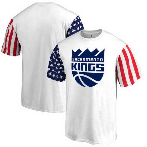 Sacramento Kings Fanatics Branded Stars & Stripes T-Shirt - White