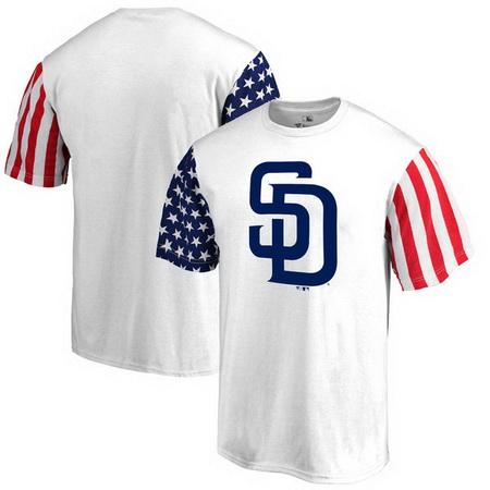 San Diego Padres Fanatics Branded Stars & Stripes T-Shirt - White