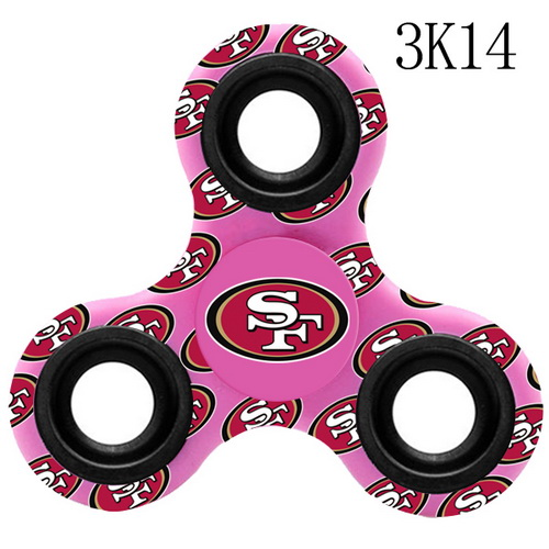 San Francisco 49ers Pink Logo Three-Way Fidget Spinner III - 3K14