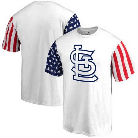 St- Louis Cardinals Fanatics Branded Stars & Stripes T-Shirt - White
