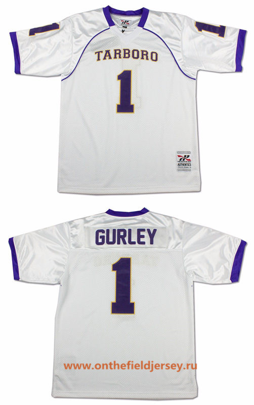 Men's The High School Tarboro #33 Todd Gurley White Stitched Football Jersey