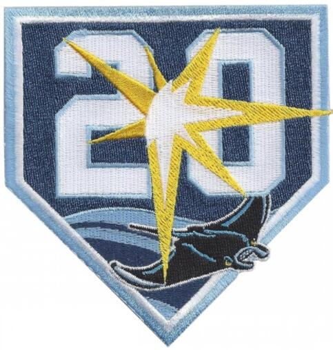 2018 Tampa Bay Rays 20th Anniversary Embroidered Jersey Patch