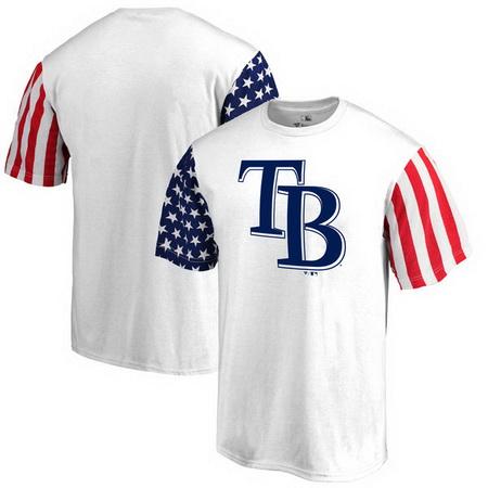 Tampa Bay Rays Fanatics Branded Stars & Stripes T-Shirt - White