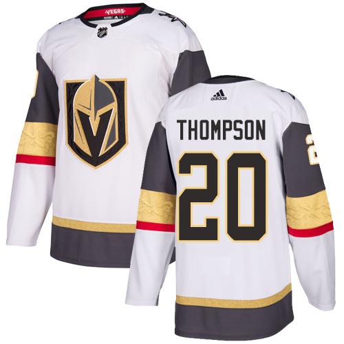Vegas Golden Knights #20 Paul Thompson White Stitched Adidas NHL Away Men's Jersey