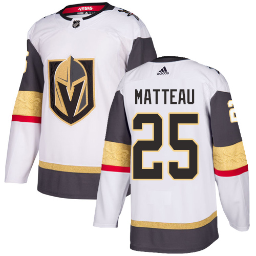 Vegas Golden Knights #25 Stefan Matteau White Stitched Adidas NHL Away Men's Jersey
