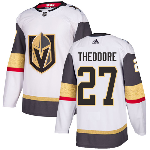 Vegas Golden Knights #27 Shea Theodore White Stitched Adidas NHL Away Men's Jersey