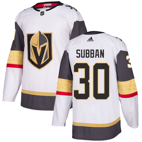 Vegas Golden Knights #30 Malcolm Subban White Stitched Adidas NHL Away Men's Jersey