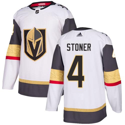 Vegas Golden Knights #4 Clayton Stoner White Stitched Adidas NHL Away Men's Jersey