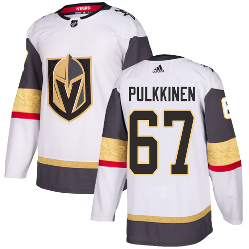 Vegas Golden Knights #67 Teemu Pulkkinen White Stitched Adidas NHL Away Men's Jersey