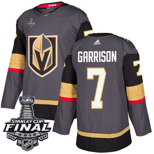 Vegas Golden Knights #7 Jason Garrison Gray Stitched Adidas NHL Home Men's Jersey with 2018 Stanley Cup Final Patch