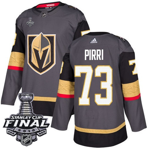 Vegas Golden Knights #73 Brandon Pirri Gray Stitched Adidas NHL Home Men's Jersey with 2018 Stanley Cup Final Patch