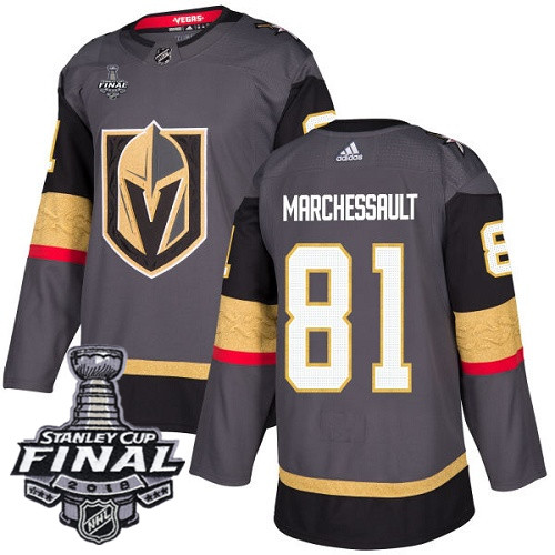 Vegas Golden Knights #81 Jonathan Marchessault Gray Stitched Adidas NHL Home Men's Jersey with 2018 Stanley Cup Final Patch