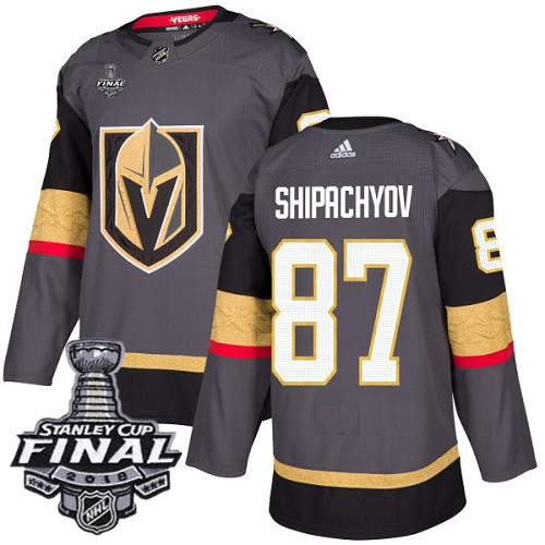 Vegas Golden Knights #87 Vadim Shipachyov Gray Stitched Adidas NHL Home Men's Jersey with 2018 Stanley Cup Final Patch