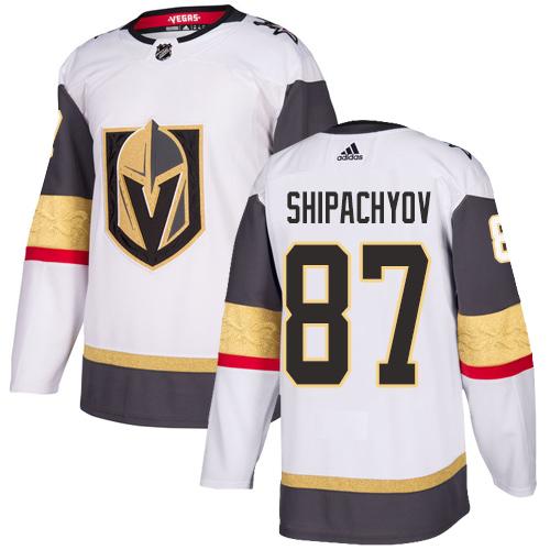 Vegas Golden Knights #87 Vadim Shipachyov White Stitched Adidas NHL Away Men's Jersey