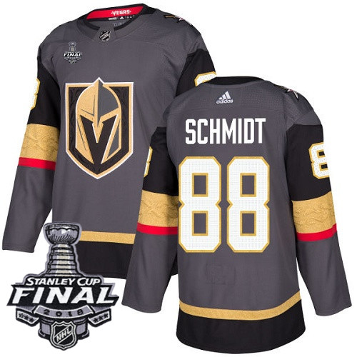 Vegas Golden Knights #88 Nate Schmidt Gray Stitched Adidas NHL Home Men's Jersey with 2018 Stanley Cup Final Patch