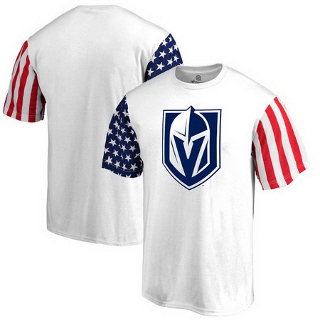 Vegas Golden Knights Fanatics Branded Stars & Stripes T-Shirt - White