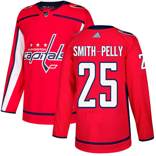 Washington Capitals #25 Devante Smith-Pelly Red Stitched Adidas NHL Home Men's Jersey