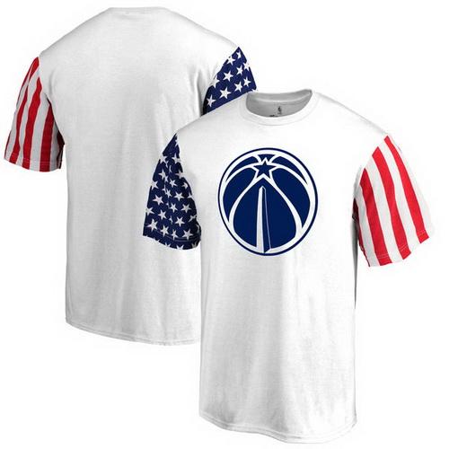 Washington Wizards Fanatics Branded Stars & Stripes T-Shirt - White