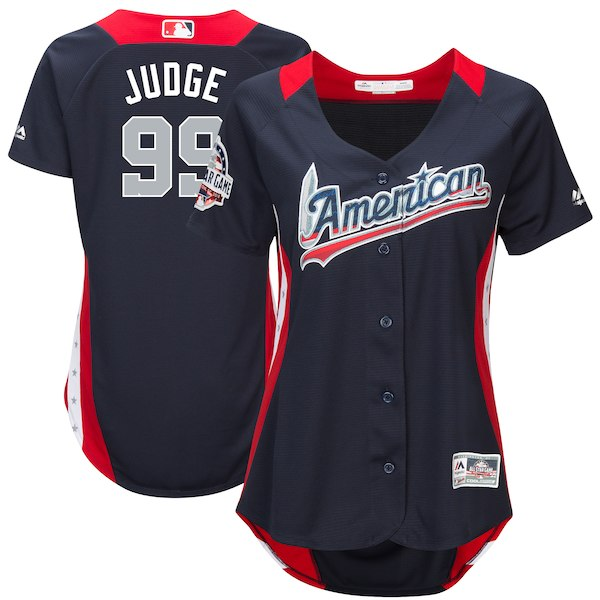 Women's American League Aaron Judge Majestic Navy 2018 MLB All-Star Game Home Run Derby Player Jersey