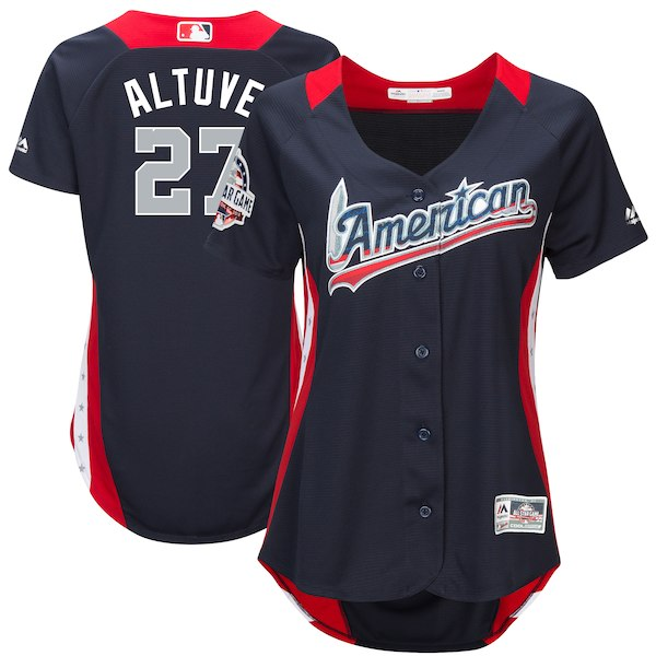 Women's American League Jose Altuve Majestic Navy 2018 MLB All-Star Game Home Run Derby Player Jersey