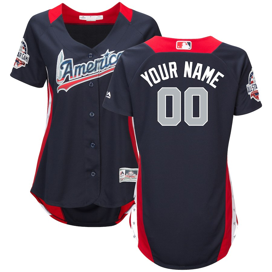 Women's American League Majestic Navy 2018 MLB All-Star Game Home Run Derby Custom Jersey