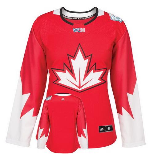 Women's Canada Hockey Adidas Red World Cup Of Hockey 2016 Premier Custom Jersey