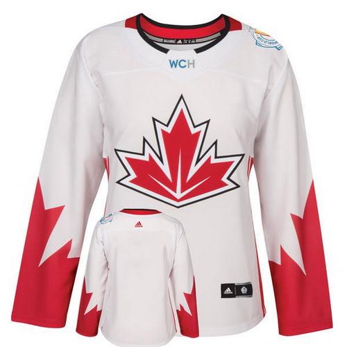 Women's Canada Hockey Adidas White World Cup Of Hockey 2016 Premier Custom Jersey