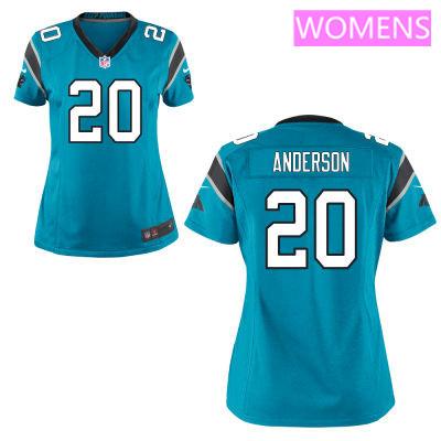 Women's Carolina Panthers #20 C. J. Anderson Light Blue Alternate Stitched NFL Nike Game Jersey