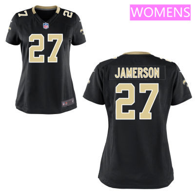 Women's New Orleans Saints #27 Natrell Jamerson Black Team Color Stitched NFL Nike Game Jersey