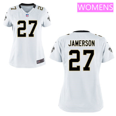 Women's New Orleans Saints #27 Natrell Jamerson White Road Stitched NFL Nike Game Jersey