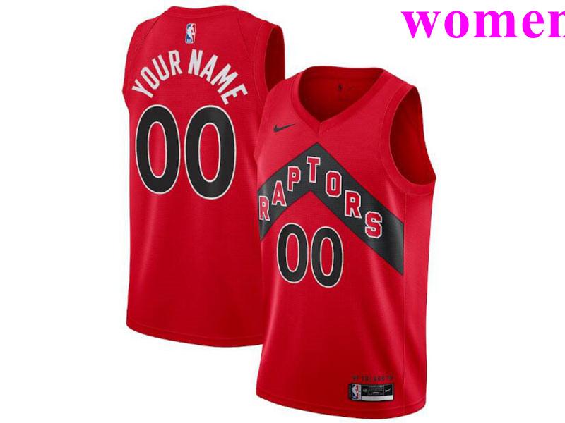 Women's Toronto Raptors Custom 2021 Red Icon Edition Nike Swingman Basketball Jersey