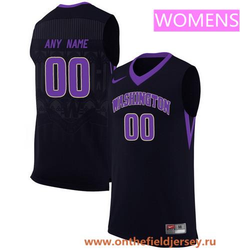 Women's Washington Huskies Custom Nike College Basketball Jersey - Black