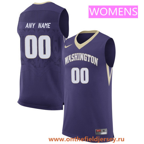 Women's Washington Huskies Custom Nike College Basketball Jersey - Purple
