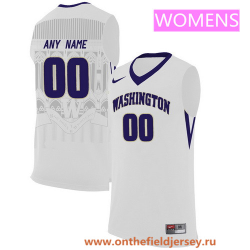 Women's Washington Huskies Custom Nike College Basketball Jersey - White