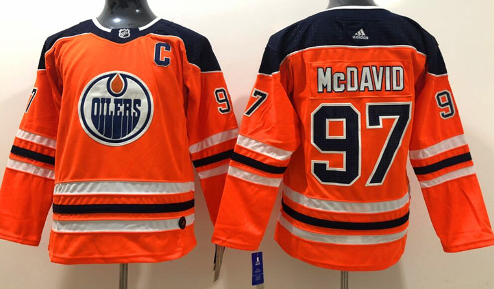 Youth's Edmonton Oilers #97 Connor McDavid Orange Home Adidas Stitched NHL Jersey