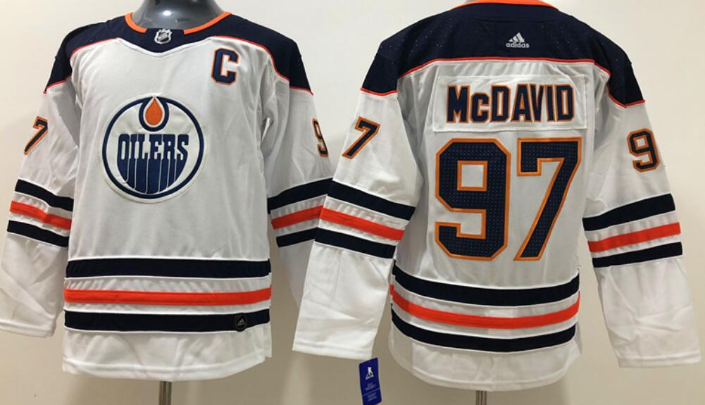Youth's Edmonton Oilers #97 Connor McDavid White Road Adidas Stitched NHL Jersey