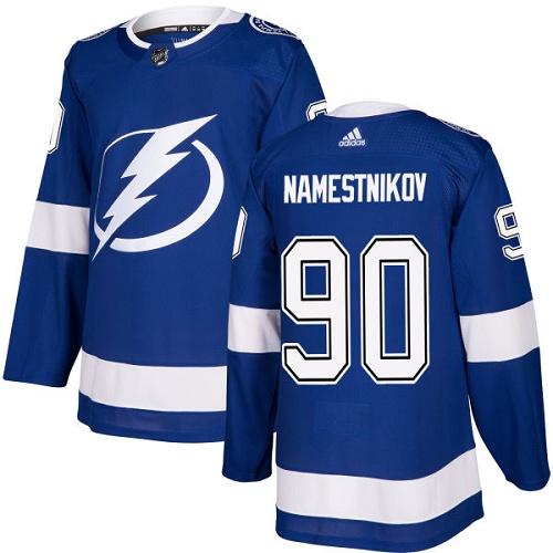 Youth Adidas Tampa Bay Lightning #90 Vladislav Namestnikov Authentic Royal Blue Home NHL Jersey