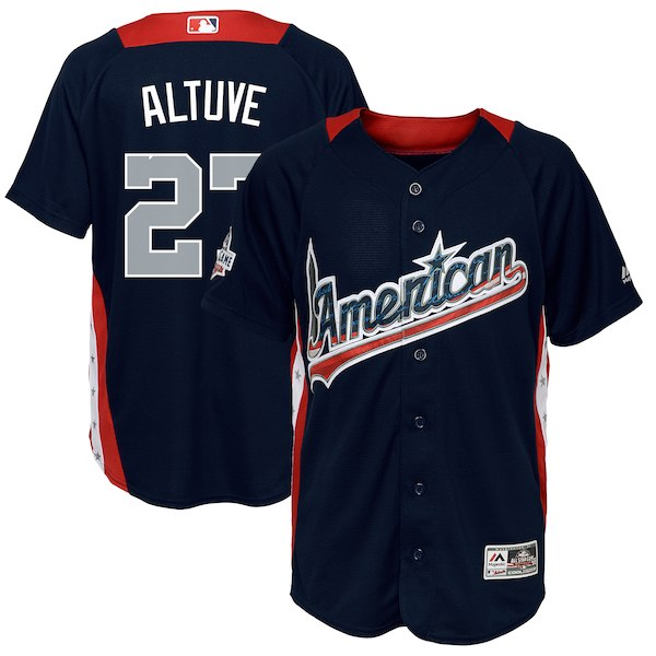 Youth American League Jose Altuve Majestic Navy 2018 MLB All-Star Game Home Run Derby Player Jersey