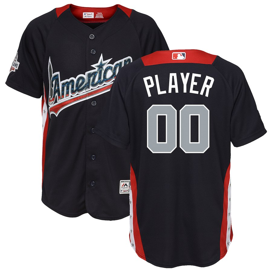 Youth American League Majestic Navy 2018 MLB All-Star Game Home Run Derby Custom Jersey