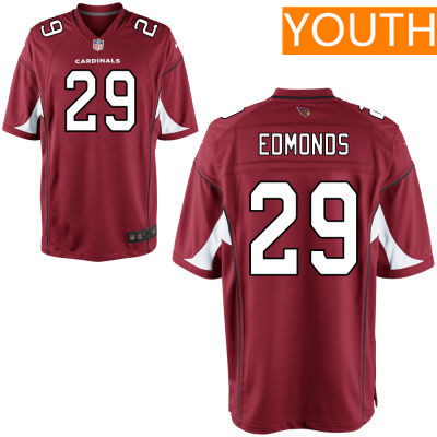 Youth Arizona Cardinals #29 Chase Edmonds Red Team Color Stitched NFL Nike Game Jersey