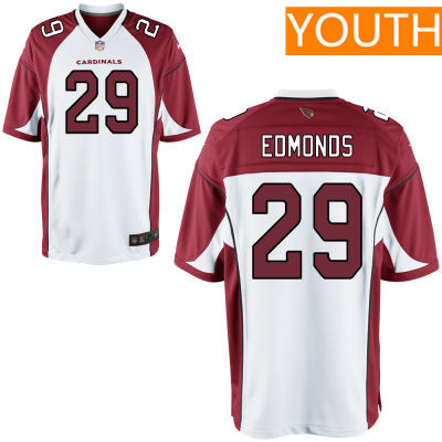 Youth Arizona Cardinals #29 Chase Edmonds White Road Stitched NFL Nike Game Jersey