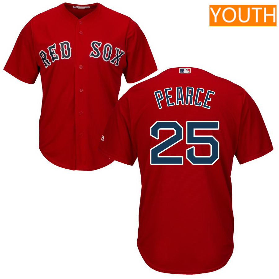 Youth Boston Red Sox Majestic Red Cool Base 25 Steve Pearce Jersey