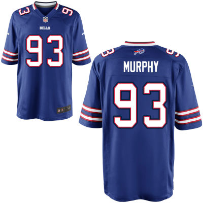Youth Buffalo Bills #93 Trent Murphy Royal Blue Team Color Stitched NFL Nike Game Jersey