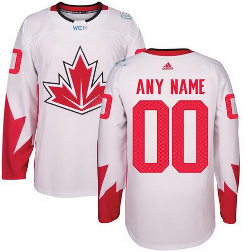 Youth Canada Hockey Adidas White World Cup Of Hockey 2016 Premier Custom Jersey